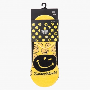 Smiley World Printed Invisible Sock - Set of 3