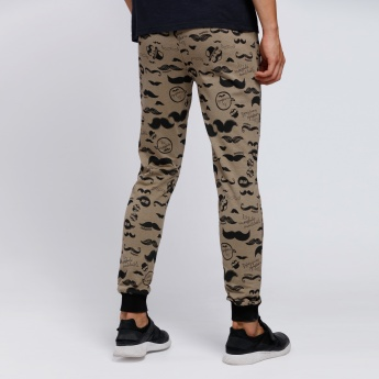 Smiley World Printed Full Length Joggers with Cuffs