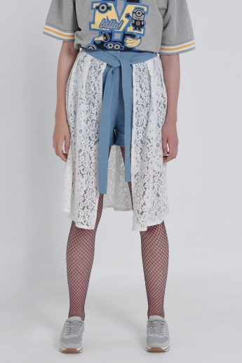 Lace Tie Up Skirt