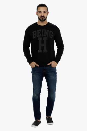 Being Human Printed Cotton Sweatshirt