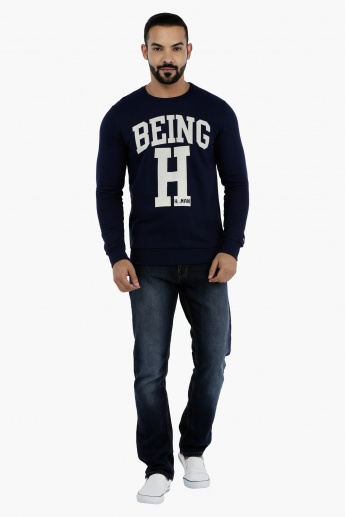 Being Human Printed Sweatshirt