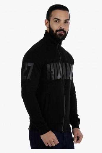 Being Human Printed Cotton Sweatshirt with High Neck