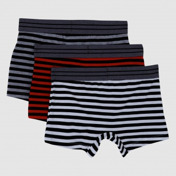 Being Human Striped Trunks with Elasticised Waistband - Set of 3
