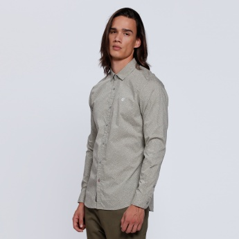 Being Human Long Sleeves Shirt with Spread Collar
