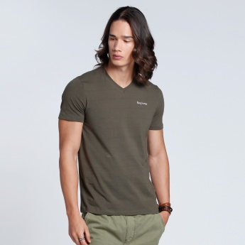 Short Sleeves T-Shirt with V-Neck