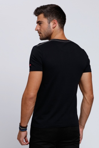 Being Human Printed Short Sleeves T-Shirt with Round Neck