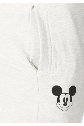 Mickey Mouse Print Cotton Joggers in Regular Fit