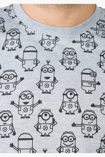 Despicable Me Theme Printed T-Shirt with Round neck and Short Sleeves
