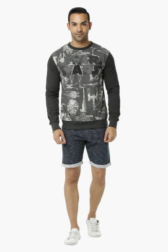 Star Wars Printed Crew Neck T-Shirt with Long Sleeves