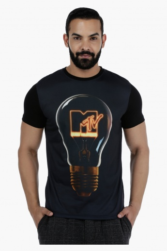 MTV Printed T-Shirt with Short Sleeves