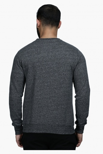 Printed Crew Neck Sweatshirt with Long Sleeves