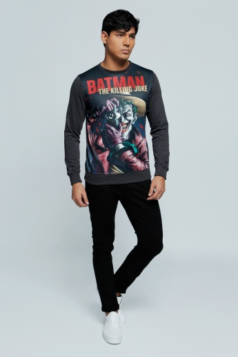 Printed Sweatshirt with Long Sleeves