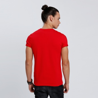 Goofy Printed T-Shirt with Round Neck and Short Sleeves