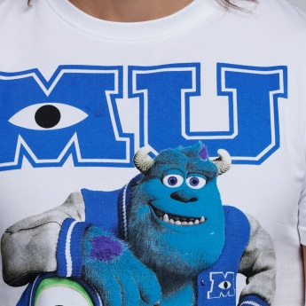 Monsters, Inc. Printed T-Shirt with Short Sleeves and Round Neck