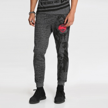 Superman Printed Full Length Jog Pants with Cuffs
