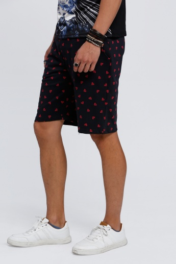 Superman Printed Shorts with Elasticised Waistband
