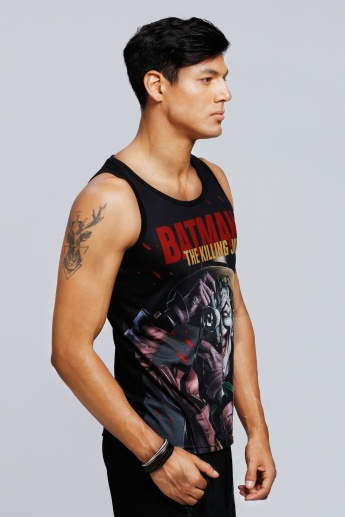 Batman: The Killing Joke Printed Sleeveless Vest with Round Neck