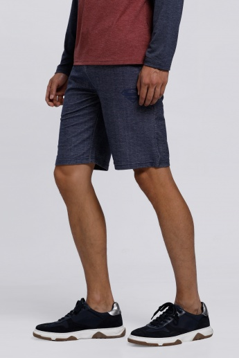 Superman Printed Shorts with Pocket Detail