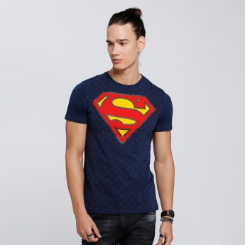 Superman Printed Short Sleeves T-Shirt with Round Neck