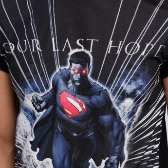 Superman Printed T-Shirt with Round Neck