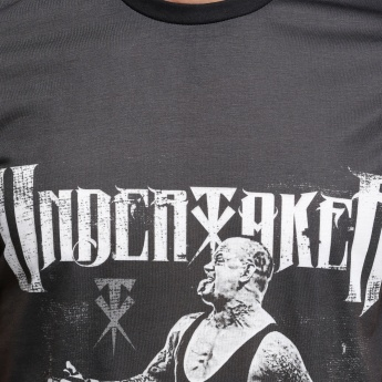 Undertaker Printed T-Shirt with Round Neck and Short Sleeves