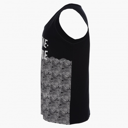Plus Size Sleeveless Cotton T-Shirt with Prints