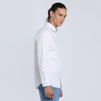 Shirt with Long Sleeves and Complete Button Placket