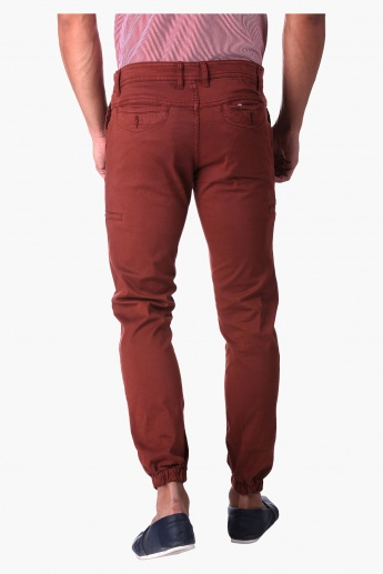 Solid Colour Cuff Pants