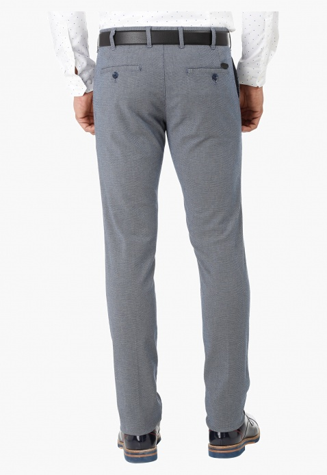 Full Length Textured Trousers