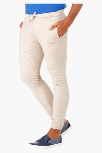 Slim-fit Linen Jogger Trousers in Regular Fit