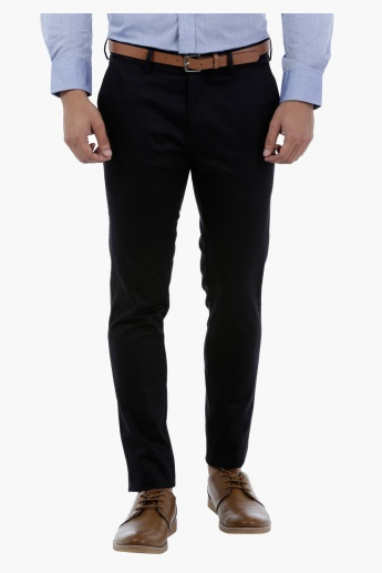 Satin Slim-fit Trousers