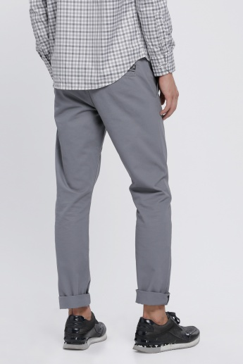 Full Length Chino Pants with Pocket Detail in Slim Fit