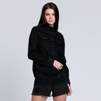 Studded Shirt with Long Sleeves