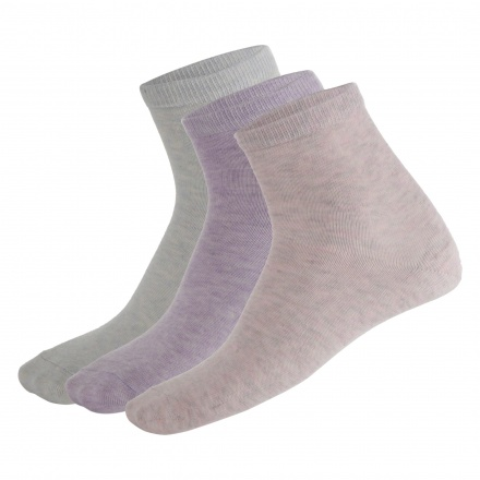 Solid Colour Ankle Length Socks - Pack of 3